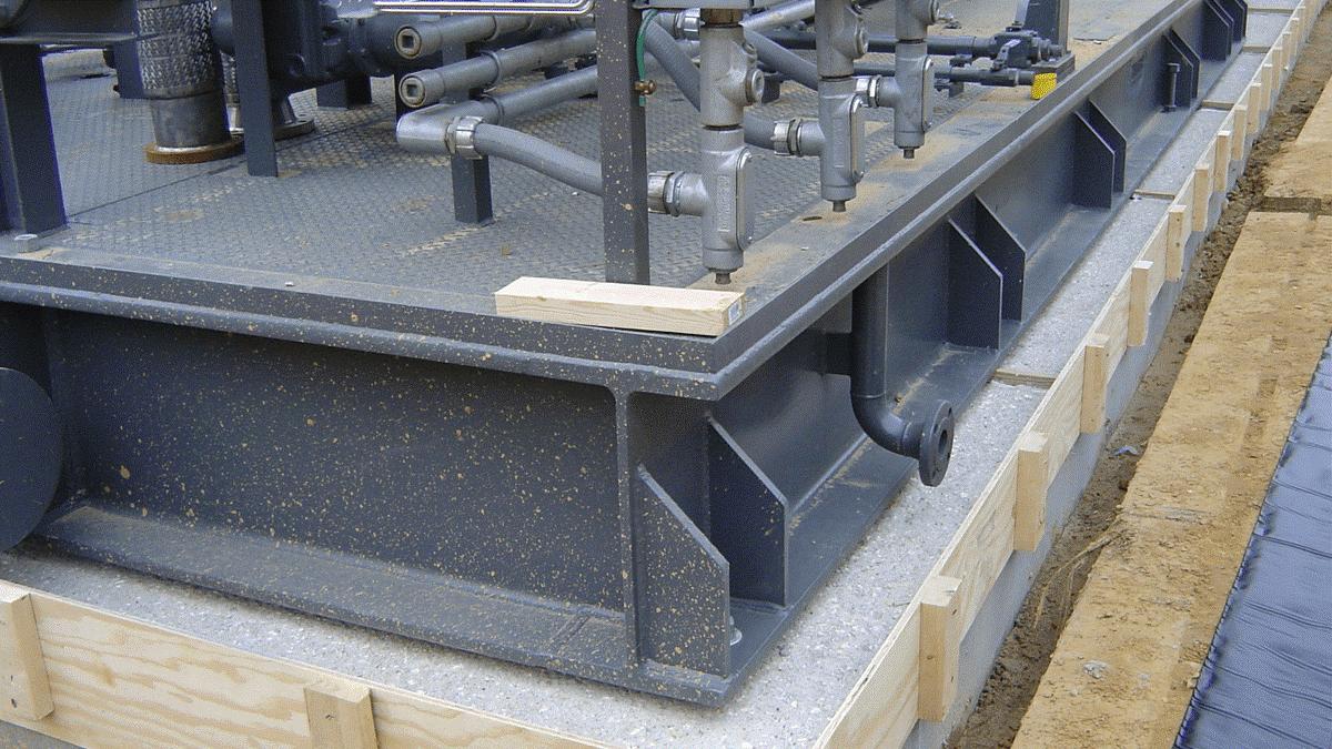 گروت ریزی و نصب ماشین آلات دارای یار افقی و عمودی