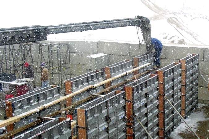 اجرای بتن در آب و هوای سرد
